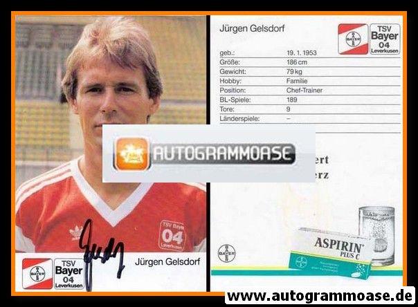 Autogramm Fussball   Bayer Leverkusen   1989   Jürgen GELSDORF