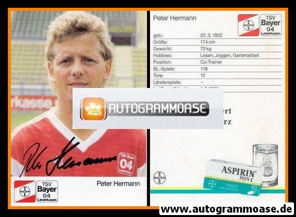 Autogramm Fussball | Bayer Leverkusen | 1989 | Peter HERMANN