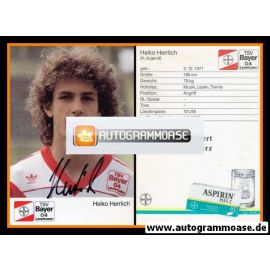 Autogramm Fussball | Bayer Leverkusen | 1989 | Heiko HERRLICH