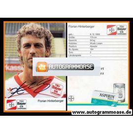 Autogramm Fussball | Bayer Leverkusen | 1989 | Florian HINTERBERGER