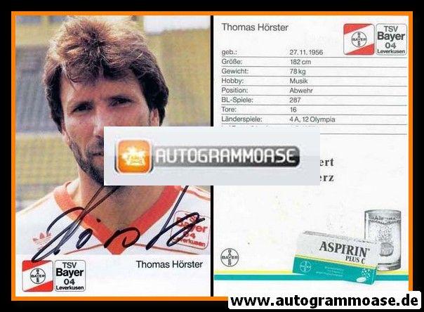 Autogramm Fussball | Bayer Leverkusen | 1989 | Thomas HÖRSTER
