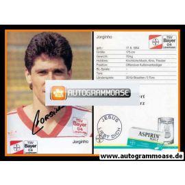Autogramm Fussball | Bayer Leverkusen | 1989 | JORGINHO