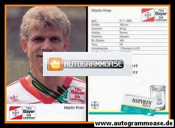 Autogramm Fussball | Bayer Leverkusen | 1989 | Martin KREE