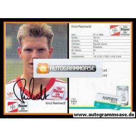 Autogramm Fussball | Bayer Leverkusen | 1989 | Knut REINHARDT