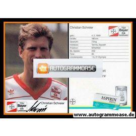 Autogramm Fussball | Bayer Leverkusen | 1989 | Christian SCHREIER