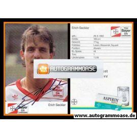 Autogramm Fussball | Bayer Leverkusen | 1989 | Erich SECKLER