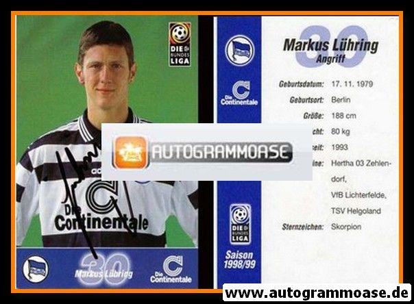 Autogramm Fussball | Hertha BSC Berlin | 1998 | Markus LÜHRING