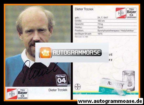 Autogramm Fussball | Bayer Leverkusen | 1989 | Dieter TRZOLEK