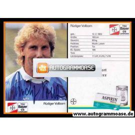 Autogramm Fussball   Bayer Leverkusen   1989   Rüdiger VOLLBORN