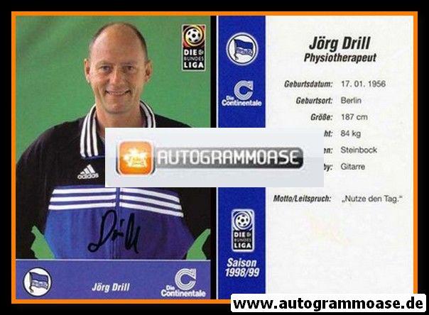 Autogramm Fussball | Hertha BSC Berlin | 1998 | Jörg DRILL