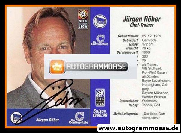 Autogramm Fussball | Hertha BSC Berlin | 1998 | Jürgen RÖBER