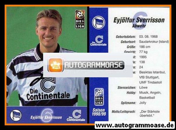 Autogramm Fussball | Hertha BSC Berlin | 1998 | Eyjölfur SVERRISSON