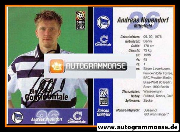 Autogramm Fussball   Hertha BSC Berlin   1998   Andreas NEUENDORF
