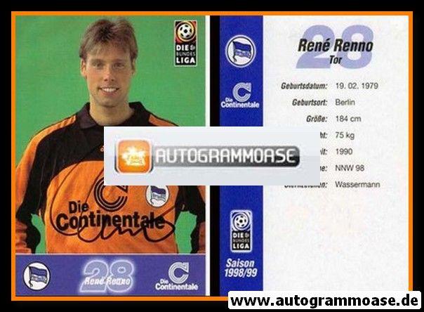 Autogramm Fussball   Hertha BSC Berlin   1998   Rene RENNO