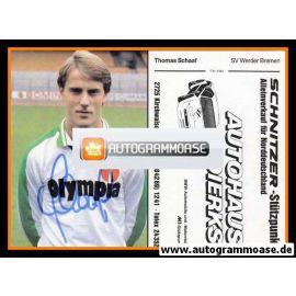 Autogramm Fussball | SV Werder Bremen | 1982 | Thomas SCHAAF (ohne Name)