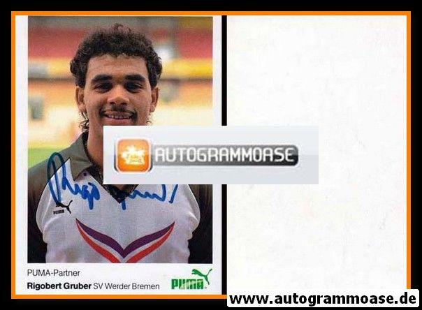 Autogramm Fussball | SV Werder Bremen | 1984 | Rigobert GRUBER