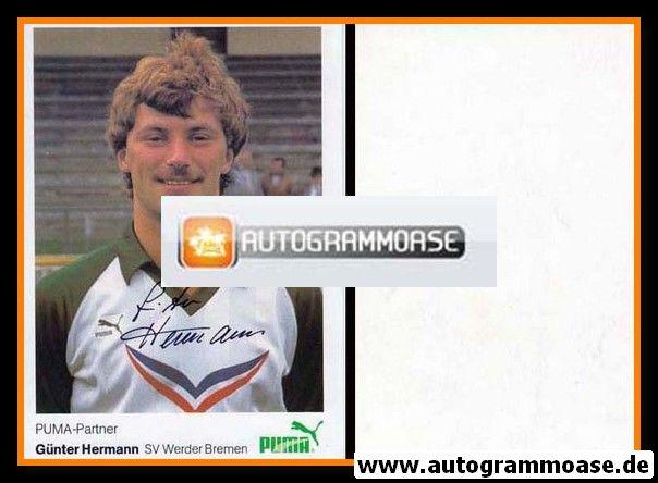 Autogramm Fussball | SV Werder Bremen | 1984 | Günter HERMANN
