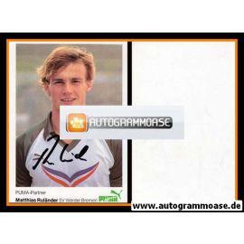 Autogramm Fussball | SV Werder Bremen | 1984 | Matthias RULÄNDER