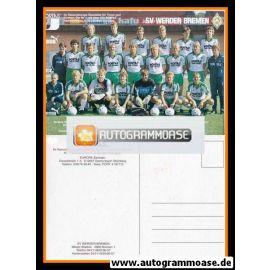 Mannschaftskarte Fussball   SV Werder Bremen   1986