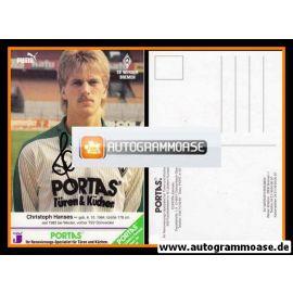 Autogramm Fussball | SV Werder Bremen | 1986 | Christoph HANSES
