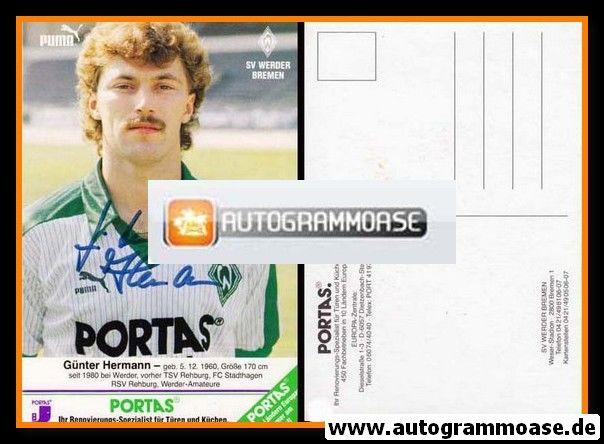 Autogramm Fussball | SV Werder Bremen | 1986 | Günter HERMANN