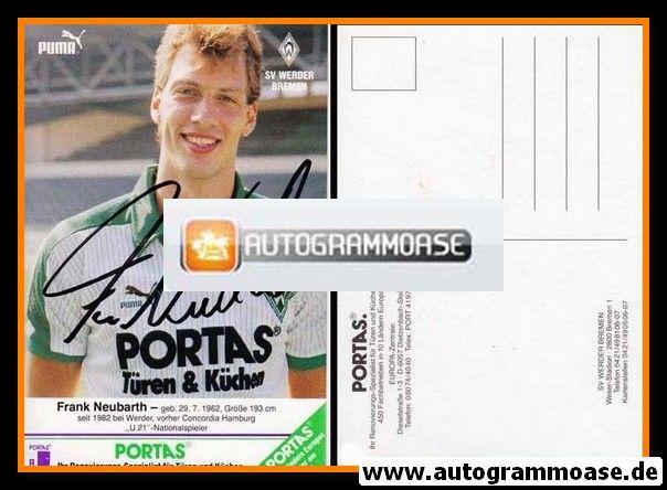 Autogramm Fussball | SV Werder Bremen | 1986 | Frank NEUBARTH