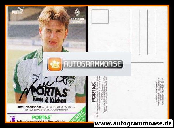 Autogramm Fussball | SV Werder Bremen | 1986 | Axel NORUSCHAT