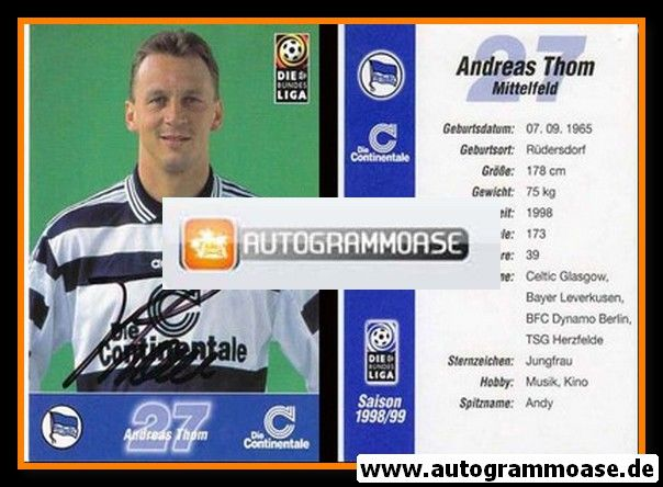 Autogramm Fussball | Hertha BSC Berlin | 1998 | Andreas THOM