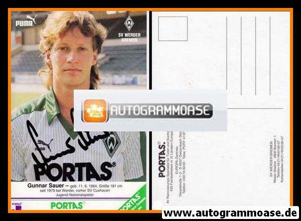 Autogramm Fussball | SV Werder Bremen | 1986 | Gunnar SAUER