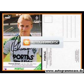Autogramm Fussball | SV Werder Bremen | 1986 | Thomas SCHAAF