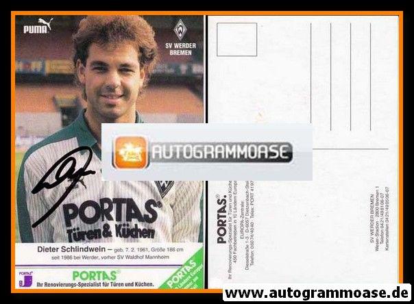 Autogramm Fussball | SV Werder Bremen | 1986 | Dieter SCHLINDWEIN