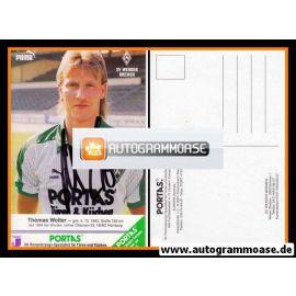 Autogramm Fussball   SV Werder Bremen   1986   Thomas WOLTER