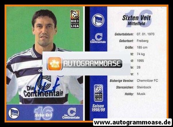 Autogramm Fussball | Hertha BSC Berlin | 1998 | Sixten VEIT