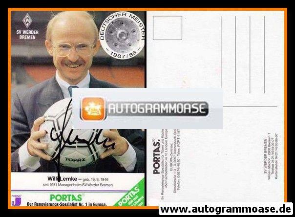 Autogramm Fussball | SV Werder Bremen | 1988 | Willi LEMKE