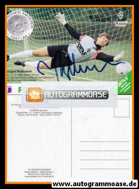 Autogramm Fussball | SV Werder Bremen | 1988 | Jürgen ROLLMANN