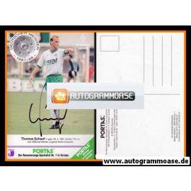 Autogramm Fussball | SV Werder Bremen | 1988 | Thomas SCHAAF