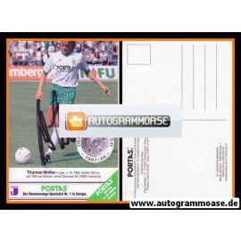 Autogramm Fussball | SV Werder Bremen | 1988 | Thomas WOLTER