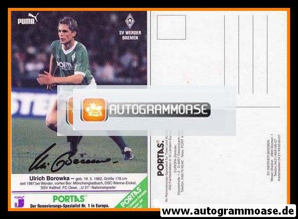 Autogramm Fussball | SV Werder Bremen | 1989 | Ulrich BOROWKA