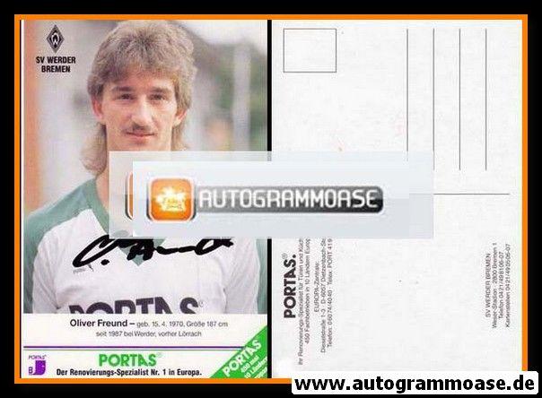 Autogramm Fussball | SV Werder Bremen | 1989 | Oliver FREUND