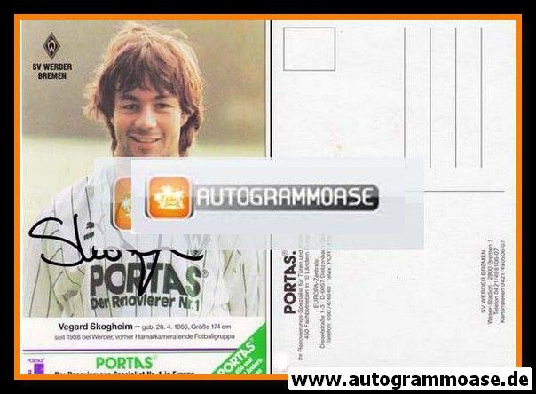 Autogramm Fussball | SV Werder Bremen | 1989 | Vegard SKOGHEIM