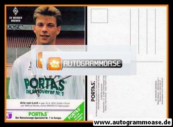 Autogramm Fussball | SV Werder Bremen | 1990 | Arie VAN LENT