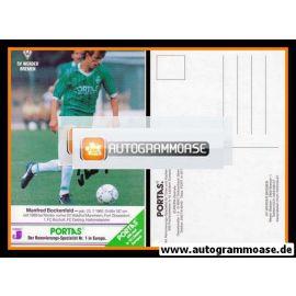 Autogramm Fussball | SV Werder Bremen | 1990 | Manfred BOCKENFELD