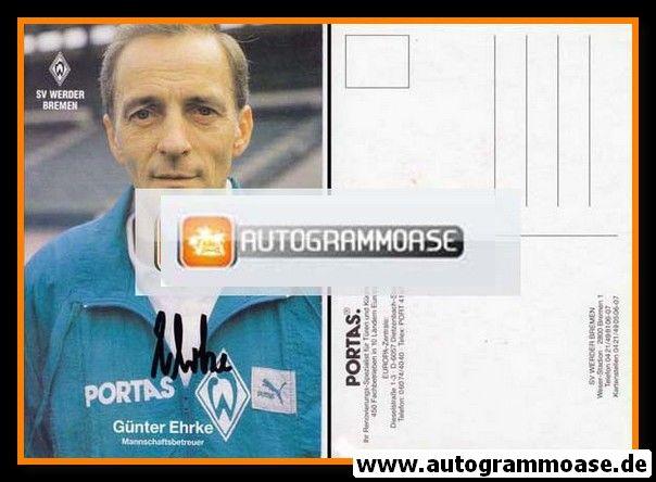 Autogramm Fussball | SV Werder Bremen | 1990 | Günter EHRKE