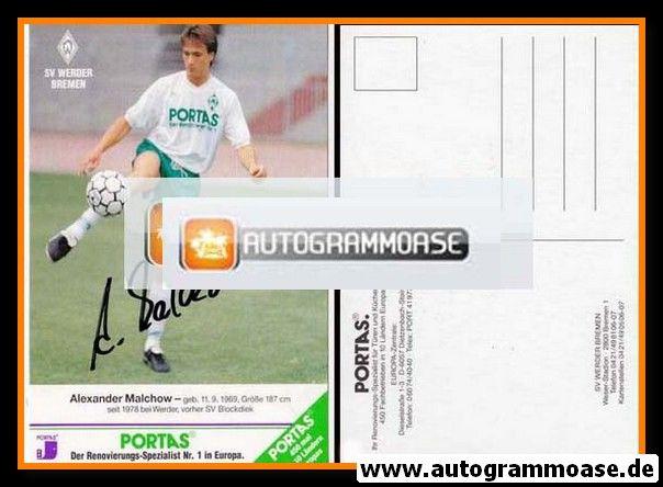Autogramm Fussball   SV Werder Bremen   1990   Alexander MALCHOW (Raute links)