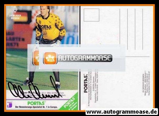 Autogramm Fussball | SV Werder Bremen | 1990 | Oliver RECK
