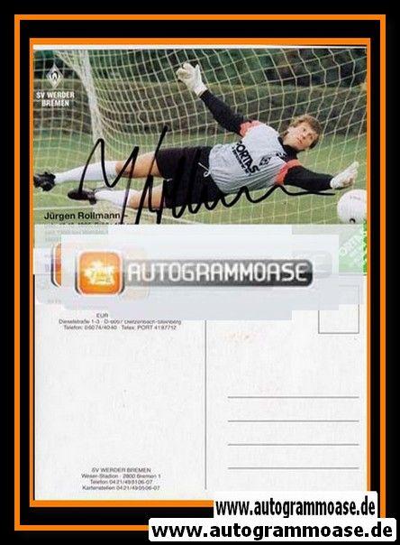 Autogramm Fussball | SV Werder Bremen | 1989 | Jürgen ROLLMANN