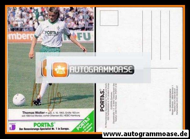 Autogramm Fussball | SV Werder Bremen | 1989 | Thomas WOLTER