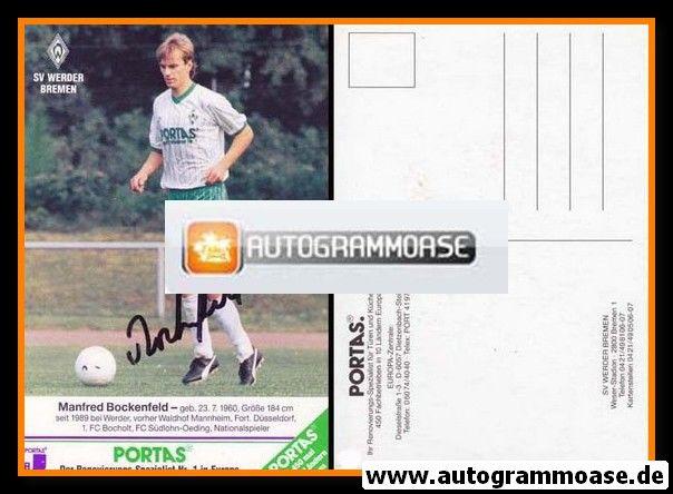 Autogramm Fussball | SV Werder Bremen | 1989 | Manfred BOCKENFELD