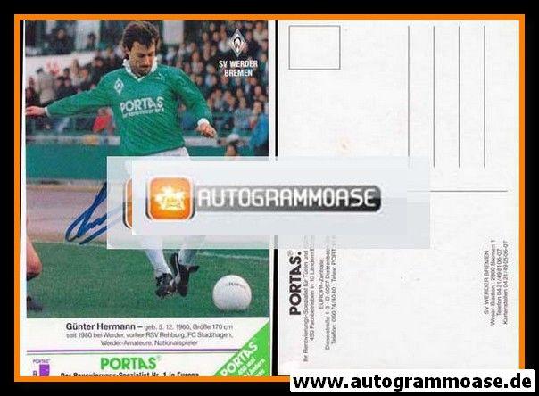 Autogramm Fussball | SV Werder Bremen | 1990 | Günter HERMANN