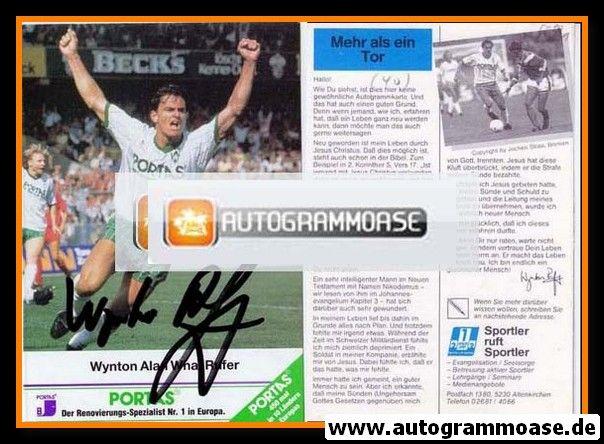 Autogramm Fussball | SV Werder Bremen | 1989 | Wynton RUFER (1)